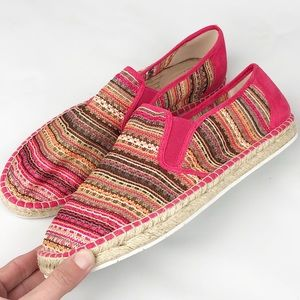 Born in California | Pink Espadrille Slip On Shoes